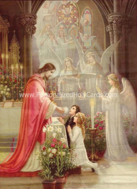 Fully Customized And Personalized Catholic Holy Cards And