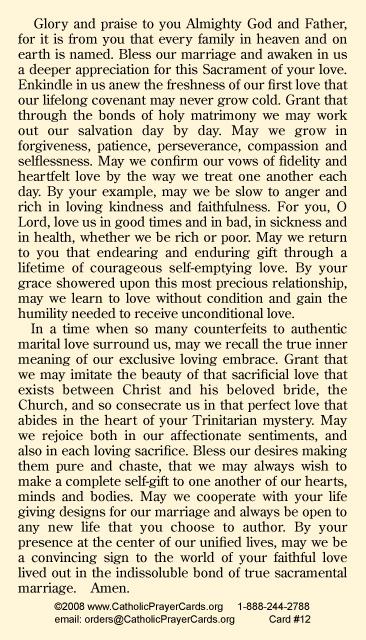Catholic dating prayer