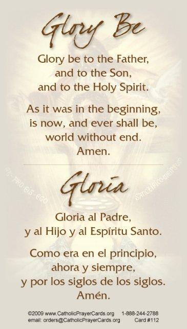 Spanish Bilingual Catholic Prayer Cards - St Therese of Lisieux - St ...
