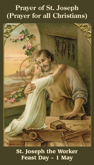 Catholic Prayer Cards Christmas Nativity St Joseph Holy Family Support Missionary Work