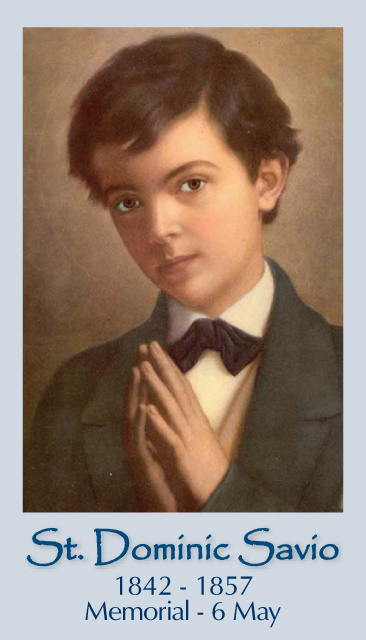 Catholic prayer cards st therese of lisieux st joseph for Saint dominic savio coloring page