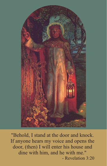 Jesus Knocking Prayer Card