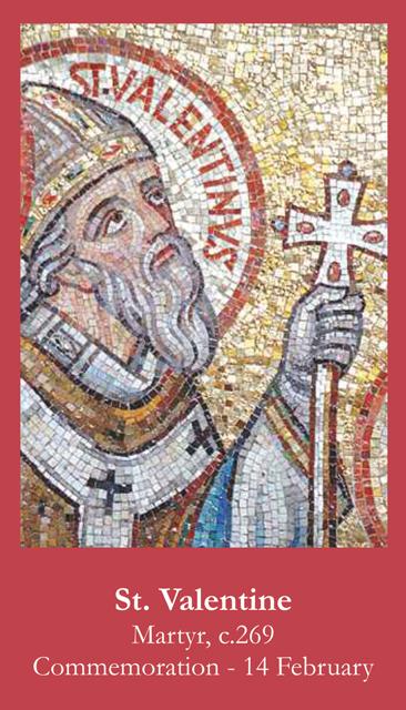St. Valentine Prayer Card. View Images
