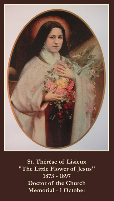 Prayer to st therese of lisieux novena