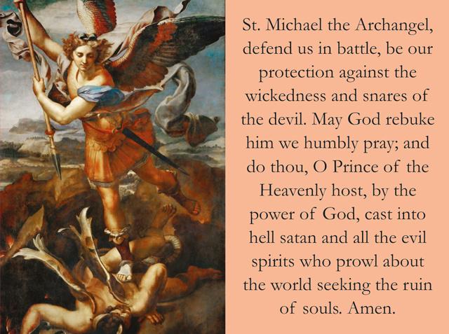 St michael the archangel prayer printable
