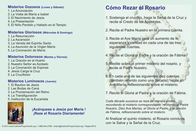 Spanish Bilingual Catholic Prayer Cards St Therese Of Lisieux St