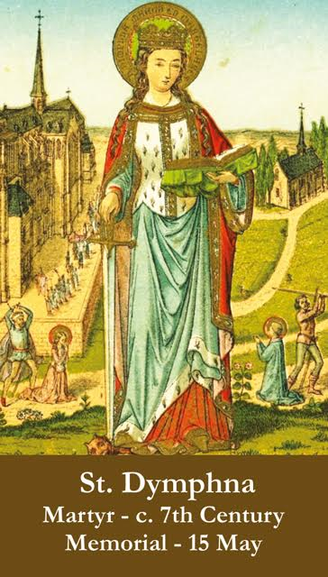 St Dymphna Prayer Card View Images