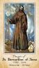 St. Bernardine of Siena Prayer Card