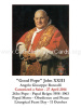 Bl. Pope John XXIII Canonization Holy Card
