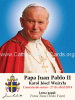 ** SPANISH ** Special Limited Edition Collector's Series Commemorative Pope John Paul II Canonization Prayer Card
