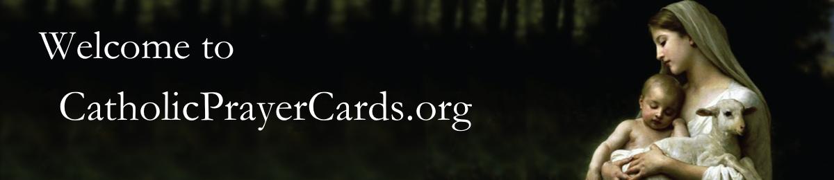 Free Catholic Prayer Cards-Catholic Prayer Cards - Buy Affordable