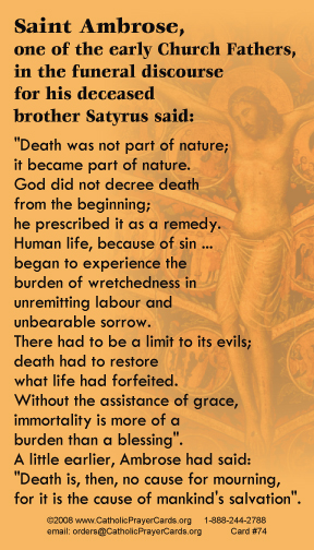 PRAYER CARD FOR THE DEAD AND DYING
