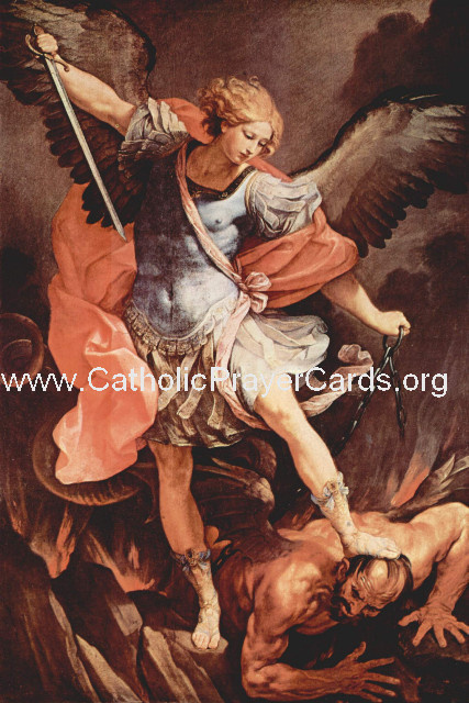 *BILINGUAL* St. Michael Prayer Card (Latin/English)