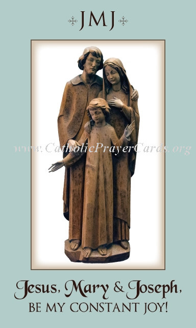 JMJ Forever - Holy Family - Prayer Card