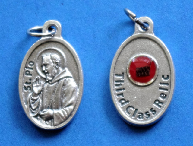 St. Padre Pio Third Class Relic Medal