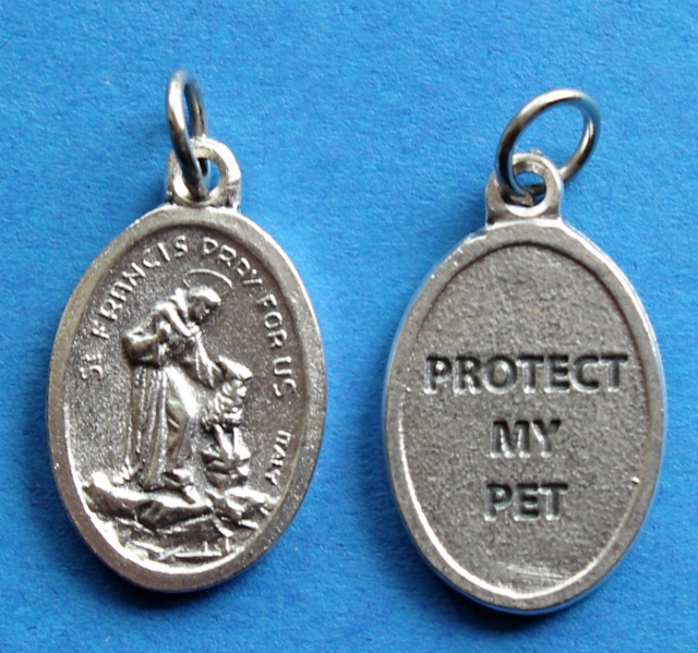 St. Francis of Assisi Protect My Pet Medal