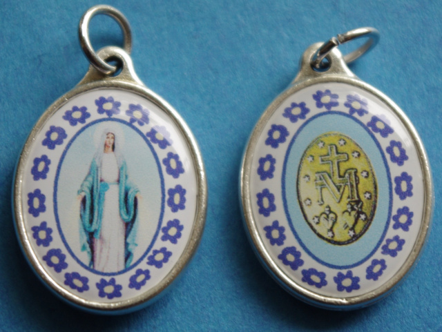 "Miraculous Medal ""Murano Style"" Medal"
