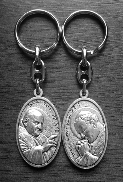 Saints John XXIII and John Paul II Keychain