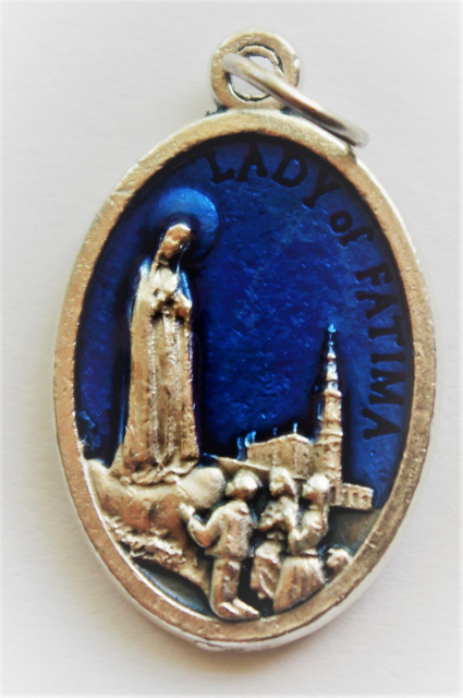 Blue Our Lady of Fatima Medal