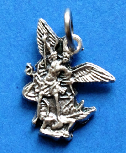 St. Michael the Archangel Silhouette Charm