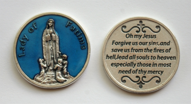 Blue Our Lady of Fatima Token