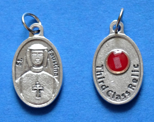 St. Faustina Third Class Relic Medal