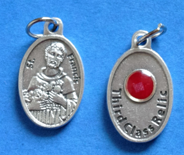 St. Francis Third Class Relic Medal
