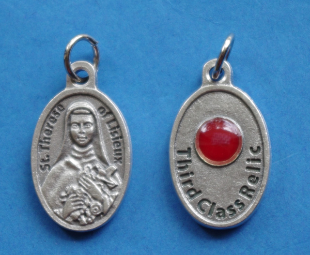 "St. Therese ""Little Flower"" Third Class Relic Medal"