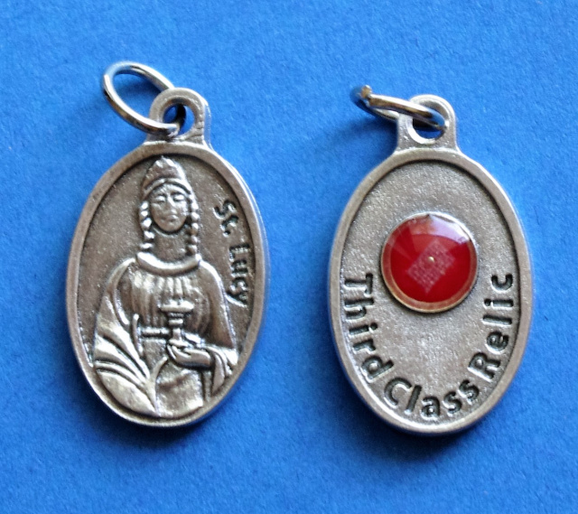 St. Lucy Third Class Relic Medal