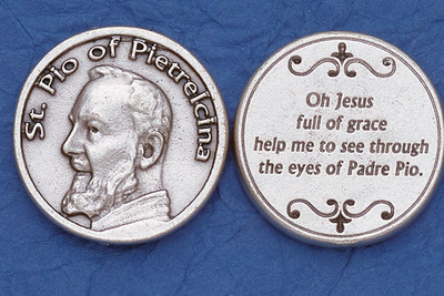 St. Padre Pio Pocket Coin