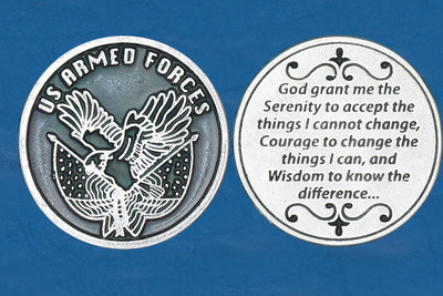 U.S. Armed Forces Serenity Prayer Pocket Coin