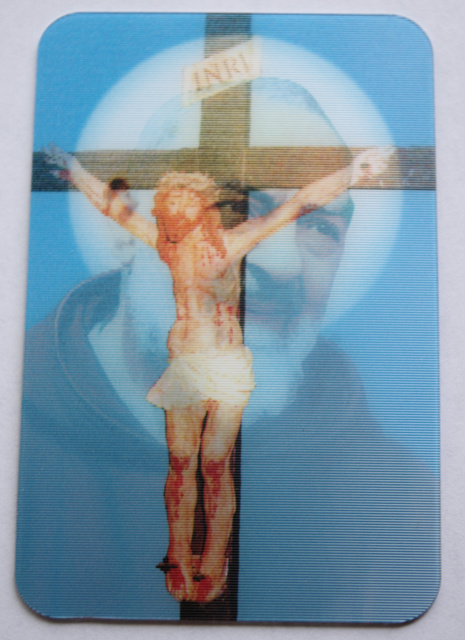 St. Padre Pio Holographic Card