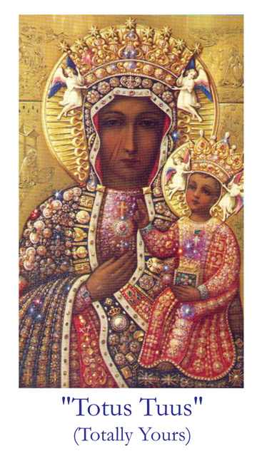 Totus Tuus / Our Lady of Czestochowa Prayer Card