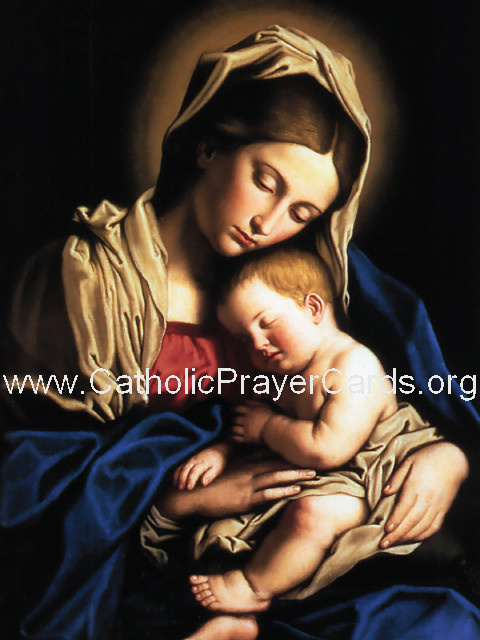 Memorare Prayer Card (LARGE)