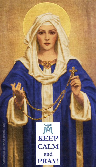 Keep Calm & Pray - Hail Mary Prayer Card