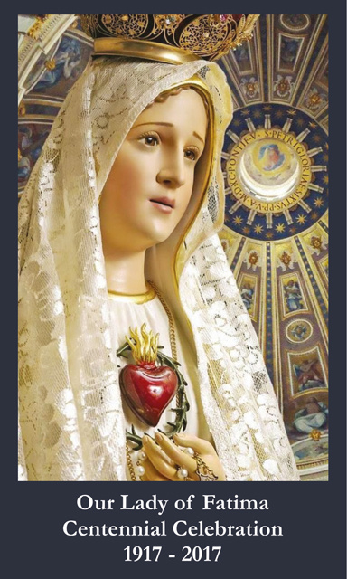 Fatima Centennial Commemorative Collector Series Prayer Card