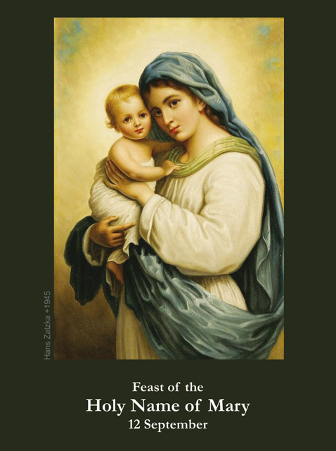 Holy Name of Mary Prayer Card