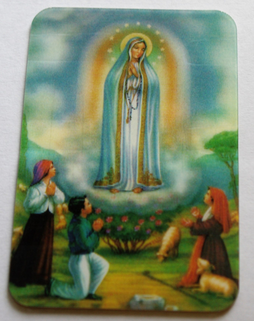 Our Lady of Fatima Apparition Card