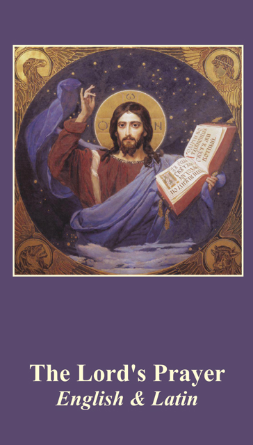 *BILINGUAL* Our Father Prayer Card (Latin/English)