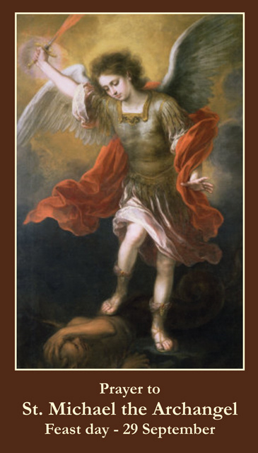 Prayer to St. Michael the Archangel Holy Card