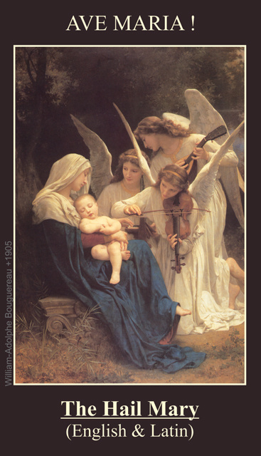 *BILINGUAL* Hail Mary Prayer Card (Latin/English)