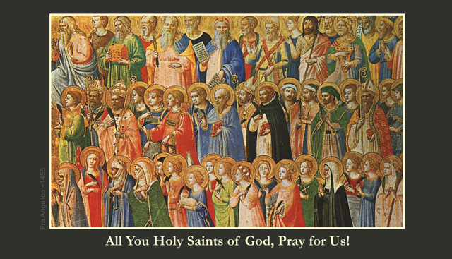 All Saints Day Prayer Card