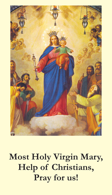 Mary Help of Christians Prayer Card