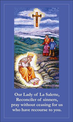 Our Lady of LaSalette Prayer Card