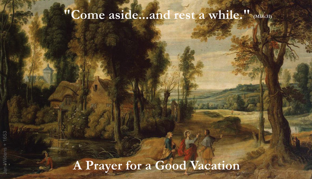 Prayer for a Good Vacation Holy Card