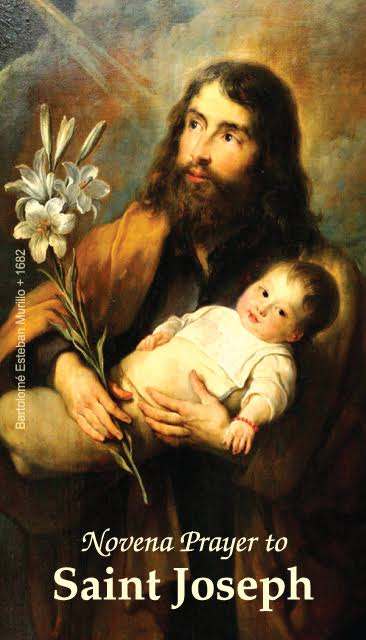 Saint Joseph Novena Prayer Card