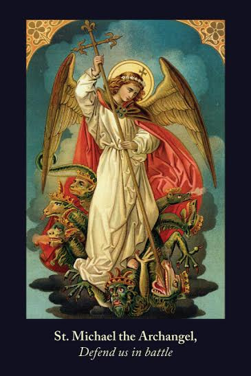 St. Michael the Archangel Defend Us In Battle Prayer Card ***JUMBO***