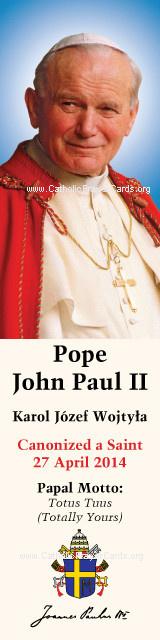 Special Limited Edition Collector's Series Commemorative Pope John Paul II Canonization Bookmarks