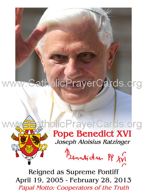 Special Limited Edition Commemorative Pope Benedict XVI Magnet