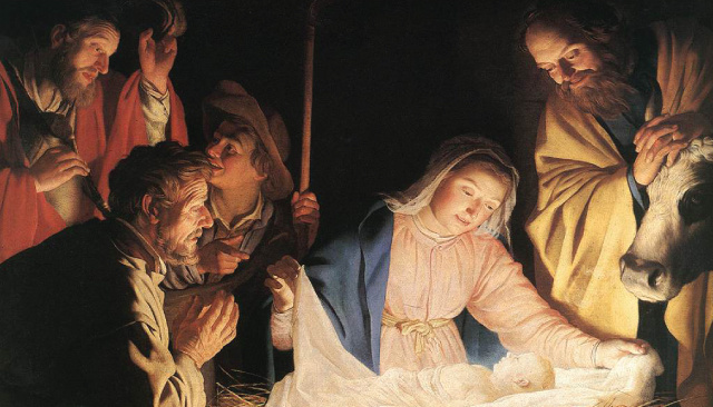 Nativity, Advent, Christmas Prayer Card